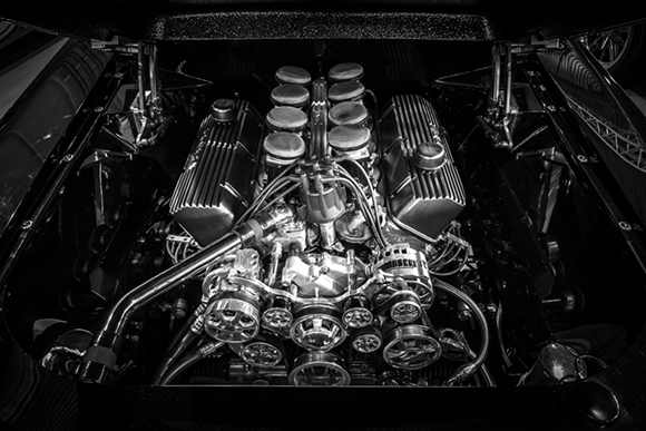 fuel injected 460 big block ford engine