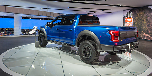 ford f150 raptor truck auto show