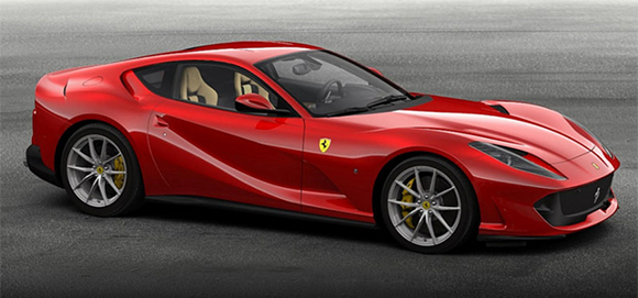 red ferrari superfast car